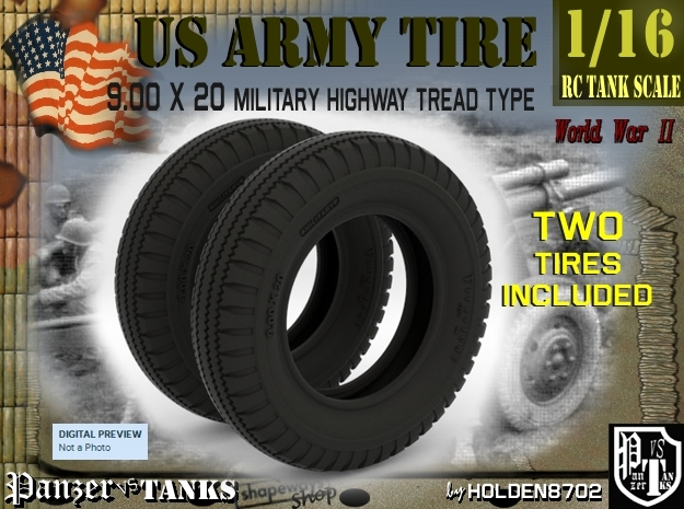 1-16 Tire  9 00x20 two units