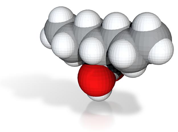 Valproic acid molecule (x40,000,000, 1A = 4mm) 3d printed