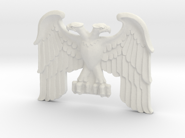 Imperial Eagle V3 -Building Motif in White Natural Versatile Plastic: Small