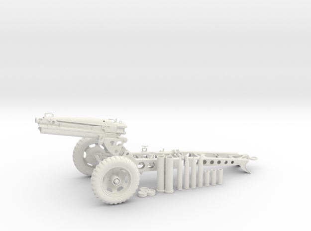 1:18 Pack Artillery Howitzer v7 in White Strong & Flexible