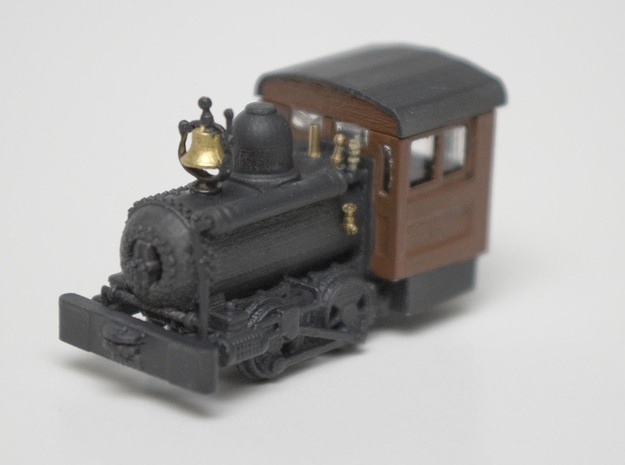 "HO Scale - 40.5"" Gauge Compressed Air Porter 0-4-0 in Smooth Fine Detail Plastic"