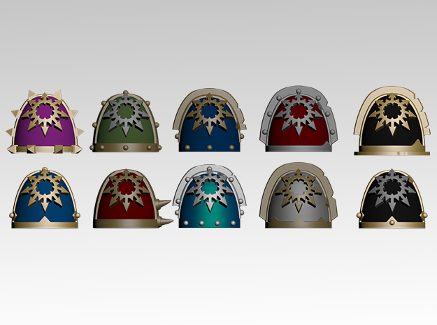Chaos Star Spiked Shoulder Pads x10
