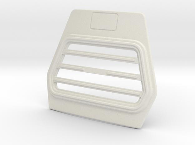 Trapezium-grill-B-1to13 in White Natural Versatile Plastic