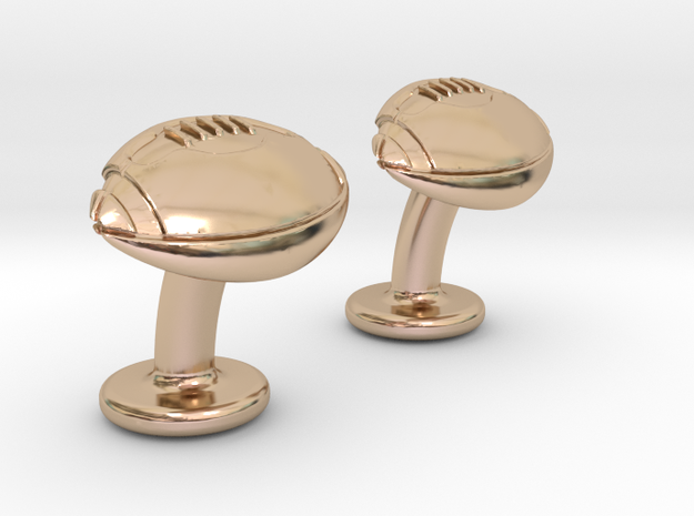 American Football Cuffslinks in 14k Rose Gold Plated Brass