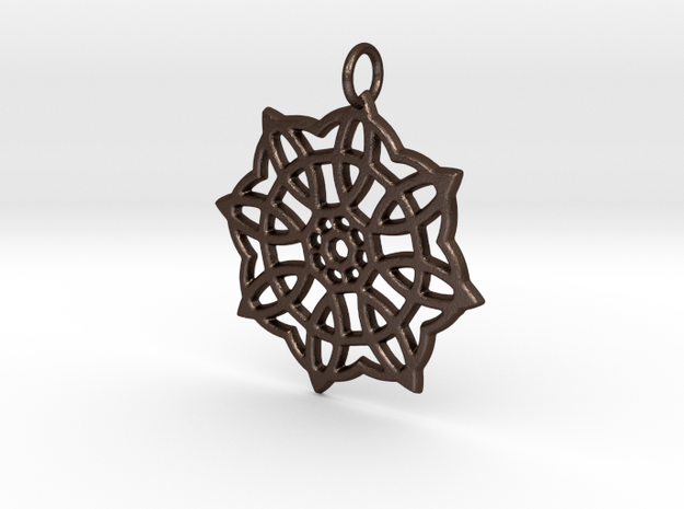 Celtic Pendant #1 in Matte Bronze Steel