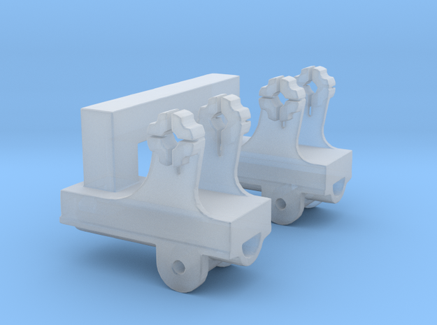 Dual  Pedestal Connector B for DShK scale 1:35 in Smooth Fine Detail Plastic