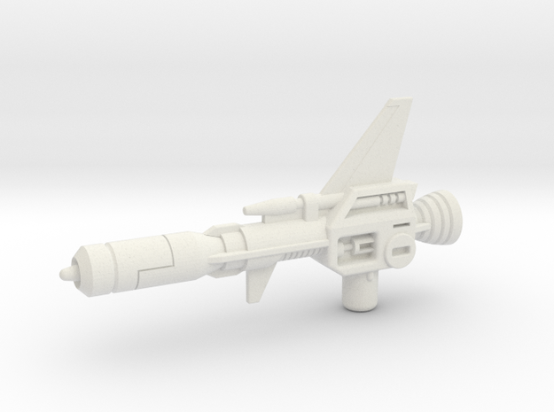 G1 Decepticon Clones Electro-Burst Rifle in White Natural Versatile Plastic