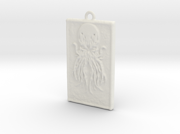 Pendant Cthulhu  in White Natural Versatile Plastic