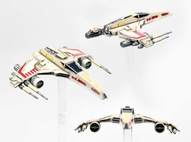 E-wing Variant - Quad Cannon 3pack  NXU 1/270 in Smoothest Fine Detail Plastic