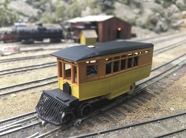 Virginia & Truckee Motor Car 99 (HO Scale) in Smooth Fine Detail Plastic: 1:87.1
