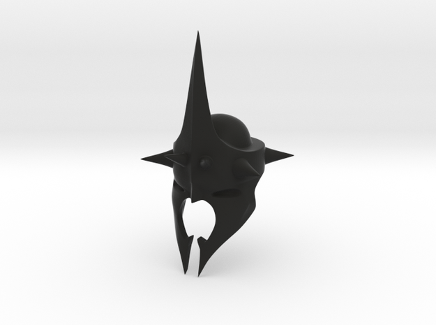 Witchking of Angmar Helmet (LEGO compatible) in Black Strong & Flexible