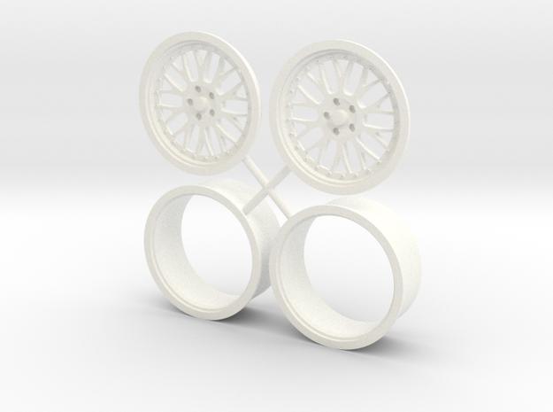 "BBS Mono Block wheel 17"" 1/12 in White Processed Versatile Plastic"
