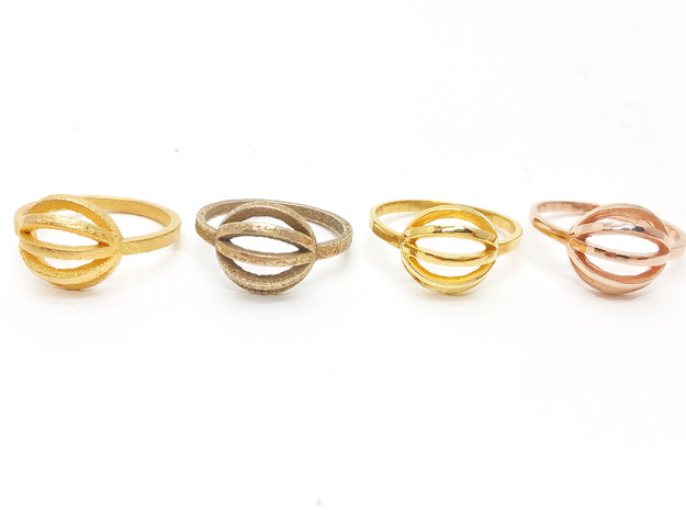 String Theory Ring - Size 7.5 in Stainless Steel: 7.5 / 55.5