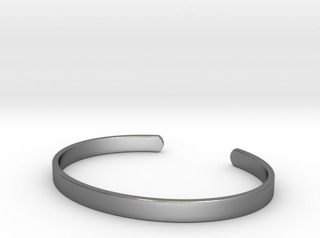 Cuff Bracelet in Polished Silver