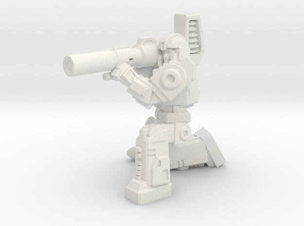 Diaclone Missle Trooper, 35mm Mini in White Strong & Flexible