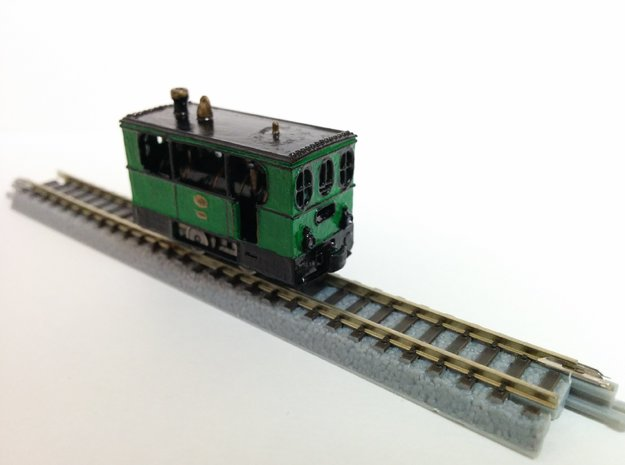 Hohenzollern Tramway locomotive in Smooth Fine Detail Plastic