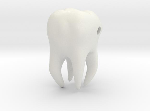 Wisdom Tooth charm/pendant in White Natural Versatile Plastic