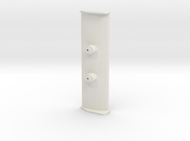 Aileron Mosler MiniZ in White Natural Versatile Plastic
