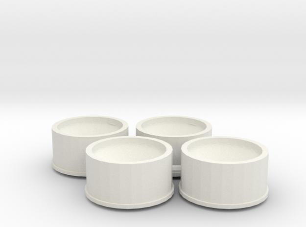 Jantes 21,5x11 ET1 MiniZ in White Natural Versatile Plastic
