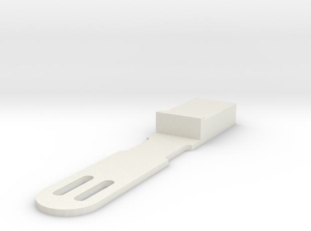 Qsfp Cable Retainer v2_0 in White Strong & Flexible