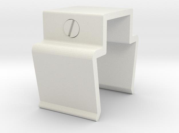 Racal Head Set Clip in White Strong & Flexible