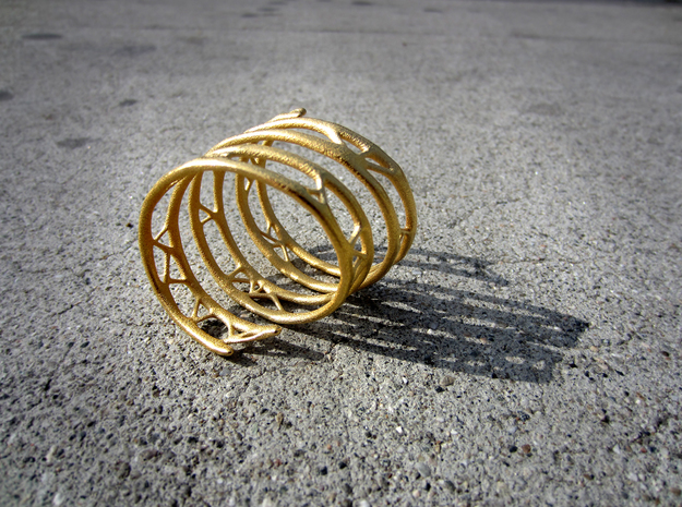 The Organic Bracelet 3d printed Spiral Geometry