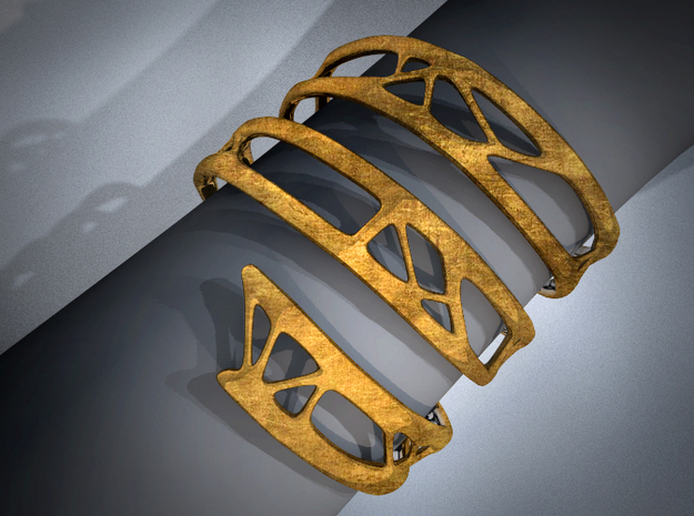 The Organic Bracelet 3d printed Worn on Wrist