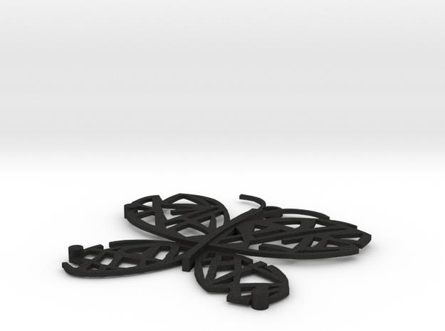 Spilla in Black Acrylic: Extra Large