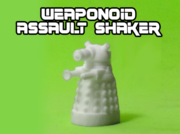 Assault Shaker Transforming Weaponoid Kit (5mm) in White Natural Versatile Plastic
