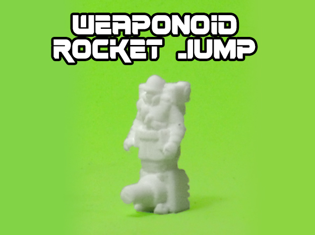 Rocket Jump Transforming Weaponoid Kit (5mm) in White Strong & Flexible