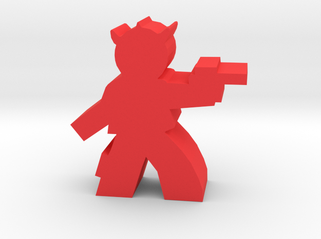 Game Piece, Spike Head Alien Outlaw in Red Processed Versatile Plastic
