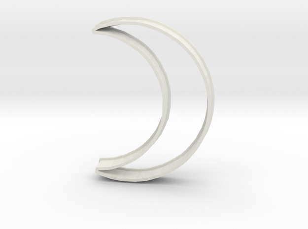 Crescent Moon Cookie Cutter in White Natural Versatile Plastic