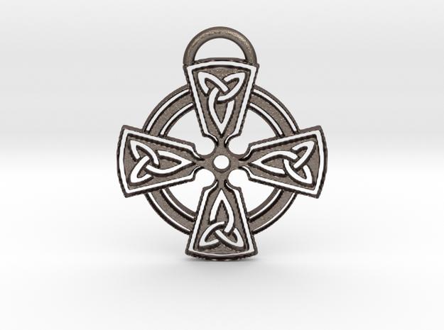 Celtic Cross Keychain in Stainless Steel
