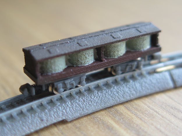 1/450 US 40ft Pickle Car body shell in Frosted Ultra Detail