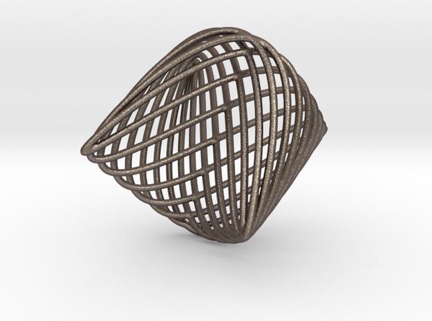 Lissajous Sphere in Polished Bronzed Silver Steel