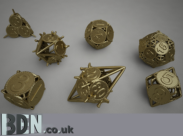 Swords and Shields D&D Dice set D4 3d printed Full set available