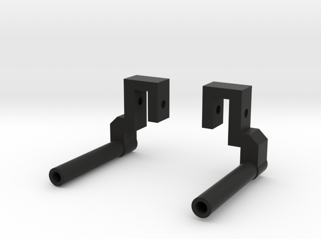 """Classic Single"" Exhaust Pipes for Pro-Line Ambush in Black Natural Versatile Plastic"