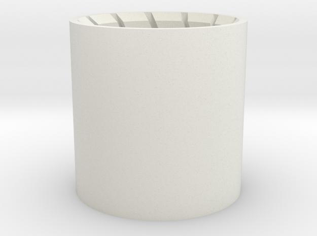 Barrel Plug 1/2 in White Natural Versatile Plastic