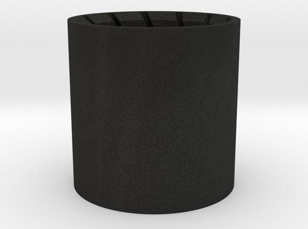 Barrel Plug 1/2 in Black Acrylic