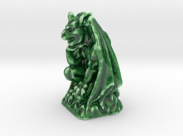 Thoughtful Gargoyle in Gloss Oribe Green Porcelain