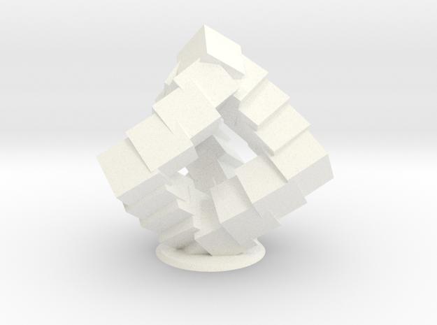 Cubic Helix in White Processed Versatile Plastic