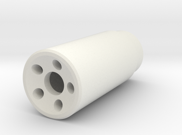 Muzzle Device in White Strong & Flexible