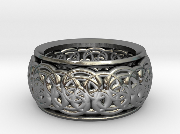 Flower of Life - The Alchemist in Polished Silver