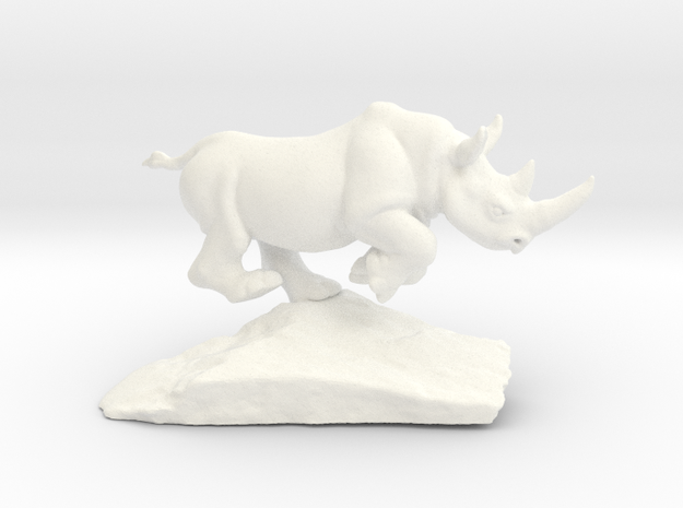 Rhino 6'' Long in White Processed Versatile Plastic