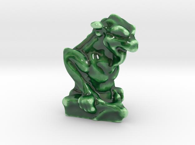 Lizzard Long Tongue Gargoyle in Gloss Oribe Green Porcelain