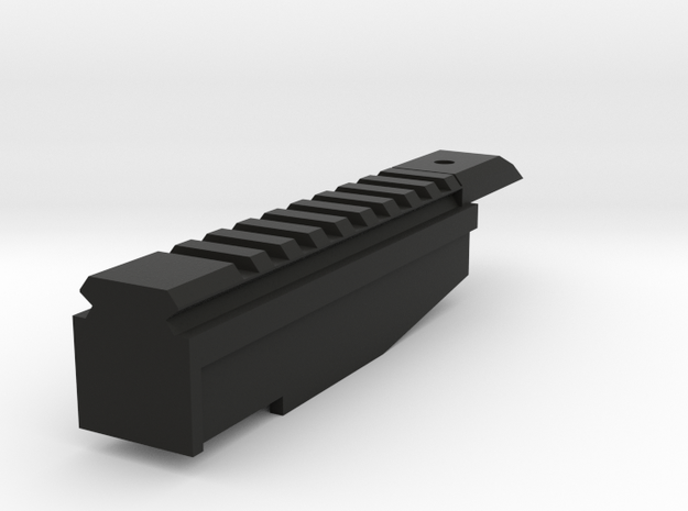 P90 rail in Black Natural Versatile Plastic