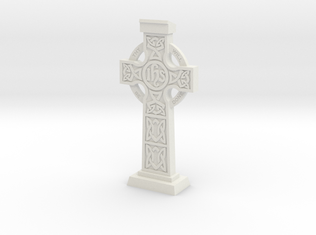 Celticcross03 in White Natural Versatile Plastic