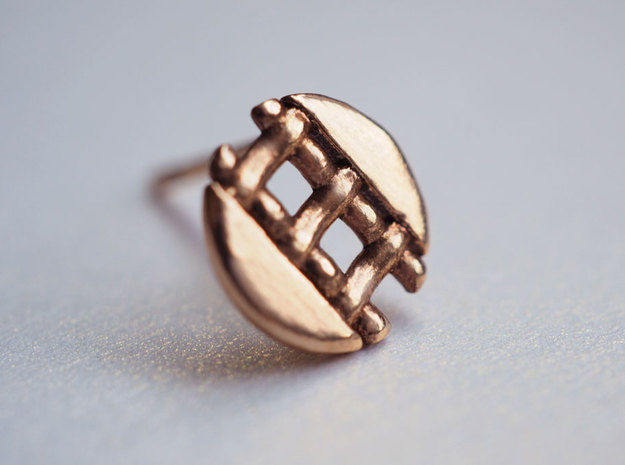 Pie Lattice Earring 4 in 14k Rose Gold Plated