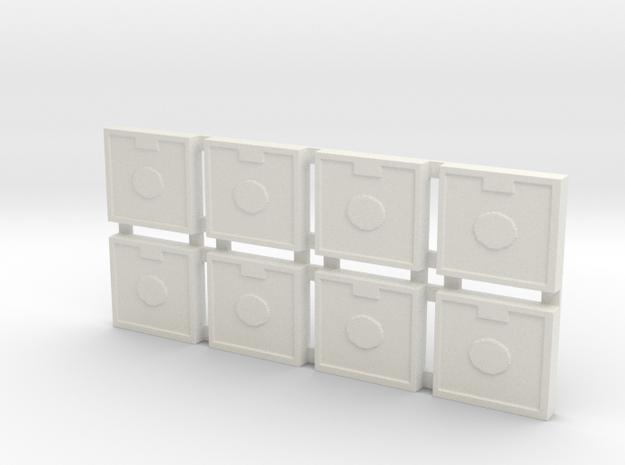 Artillery Tiles in White Strong & Flexible