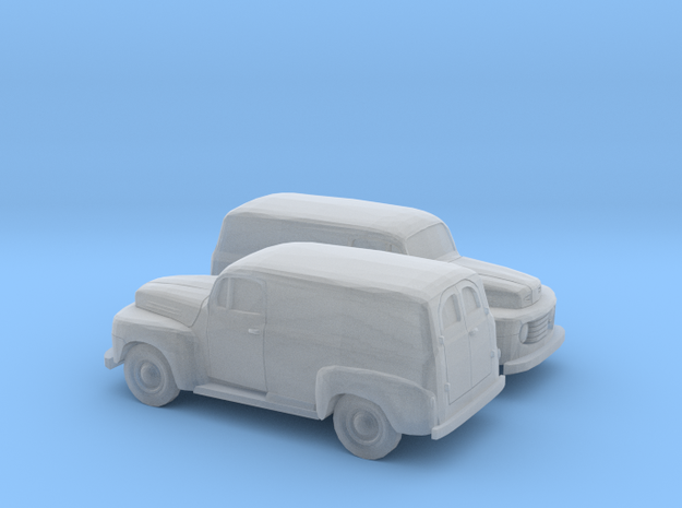 1/160 2X 1948-50 Ford F 1 Panel Truck in Smooth Fine Detail Plastic